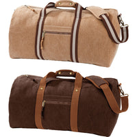Quadra Vintage Canvas Holdall Bag Case with Shoulder Strap