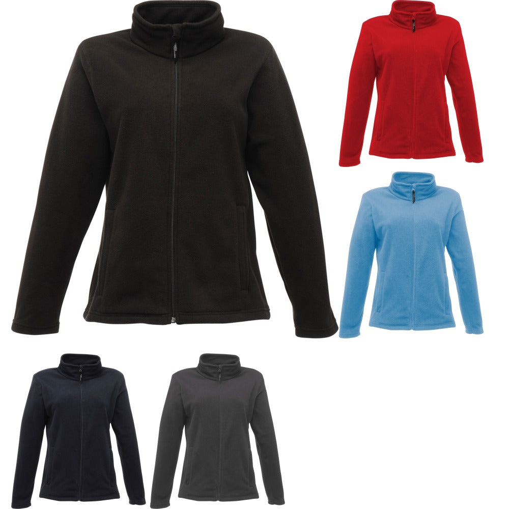 Ladies Women Regatta Zip Neck Mirofleece Full Zip Top