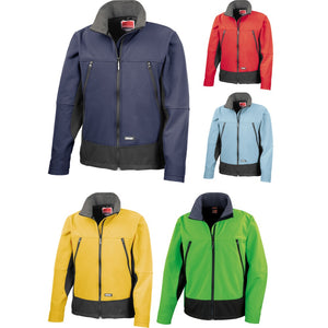 Mens Result Winter Warm Ski Colour Softshell Activity Jacket Top