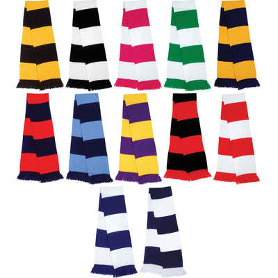 Result The Supporter Team Club Stripe Colour Football Soccer Sport Warm Scarf