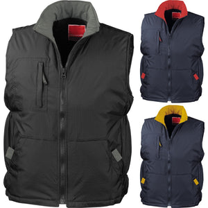Mens Result Ripstop Gilet Sleeveless Jacket Top