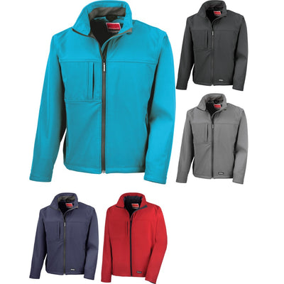 Mens Result Winter Warm Waterproof Classic Softshell Colour Jacket Coat