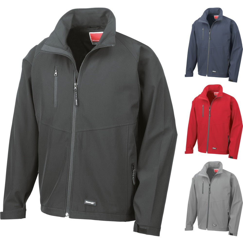 Mens Result 2 Layer Base Softshell Sport Mesh Showerproof Jacket Top