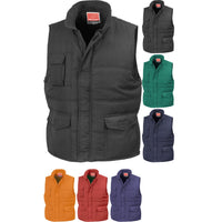 Mens Result Colour Promo Showerproof Windproof Body Warmer Top