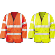 Mens Result Motorway High Visibility Vis Bright Safety Jacket EN471