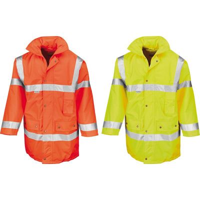 Mens Result High Visibility Hi Vis Safeguard Winter Warm Jacket Coat (EN471)