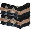 6 x Mens Long Hose Knee High Length Cotton Rich Argyle Diamond Design Socks Golf
