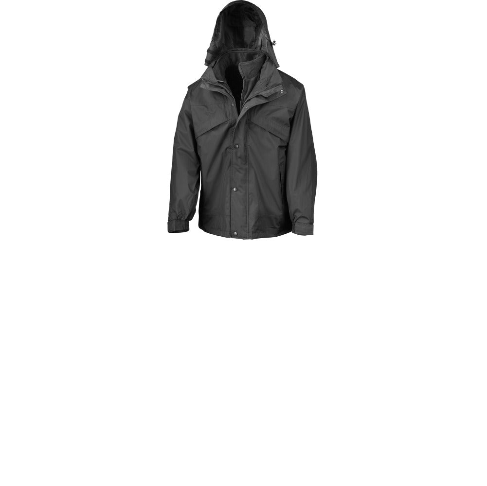 Mens Result 3-in-1 Zip and Clip Waterproof Winter Warm Jacket Coat