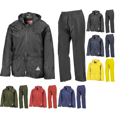 Mens Result Heavyweight Waterproof Colour Jacket and Trouser Suit Set