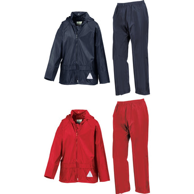 Kid Children Junior Result Heavyweight Waterproof Jacket Trouser Suit Set