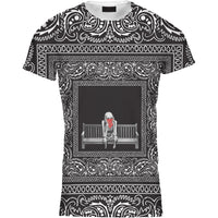 Mens Tshirt Skeleton Bench Bandana Design