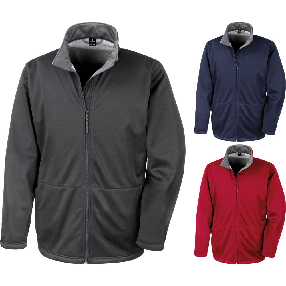 Mens Result Core Softshell Microfleece Jacket Coat