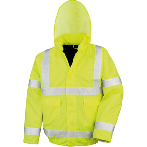 Mens Results Core High Visibility Hi Vis Waterproof Winter Blouson Jacket EN471