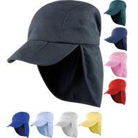Kid Children Junior Result Fold Up Sun Back Neck Flap Legionnaire Cap Hat