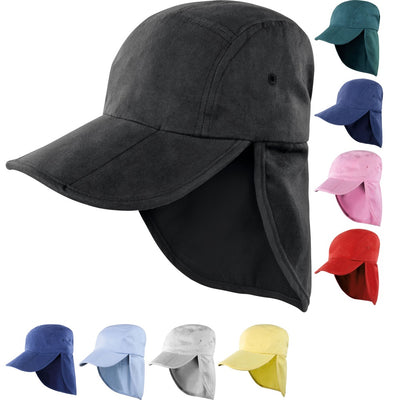Mens Result 100% Plush Cotton Neck Back Protection Fold Up Legionnaire Cap Hat