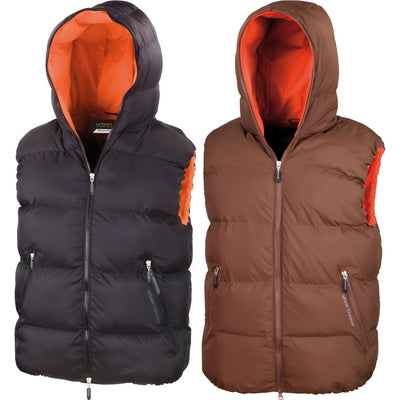 Mens Result Urban Outdoor Dax Down Feel Gilet Sleeveless Body Warmer Jacket