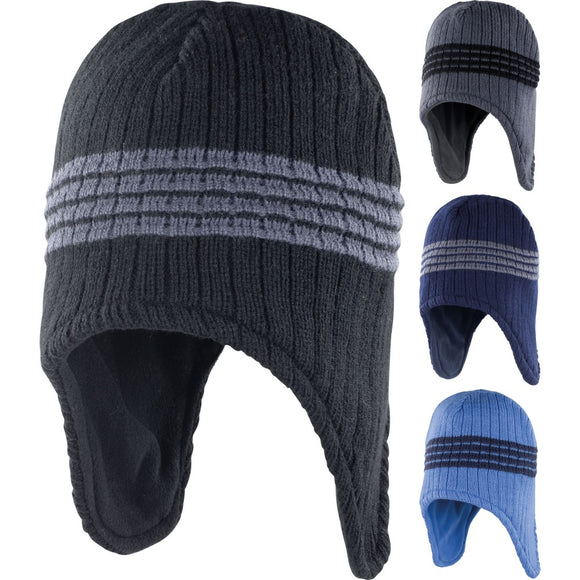 Mens Result Winter Warm Lightweight Microfleece Peru Hat