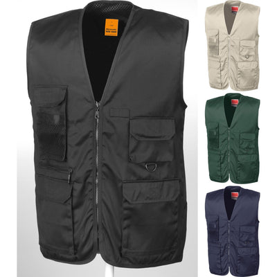 Mens Result Adventure Safari Outdoor Uniform Heavy Cotton Twill Waistcoat Top