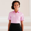 Ladies Women Russell Collection Short Sleeve Pure 100% Cotton Poplin Shirt