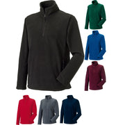 Mens Russell Collection 1/4 Zip Outdoor Fleece Top