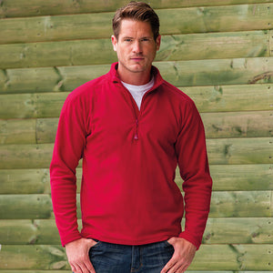 Mens Russell Collection 1/4 Zip Outdoor Microfleece Top