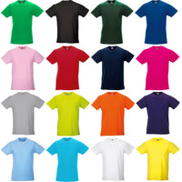 Mens Russell Slim 100% Cotton Colour Short Sleeve T Shirt Top