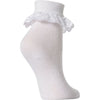 6 pairs Girls White Lace Ankle School Socks