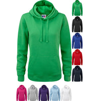 Ladies Women Russell Cotton Rich Colour Authentic Hooded Hoodie Sweatshirt Top