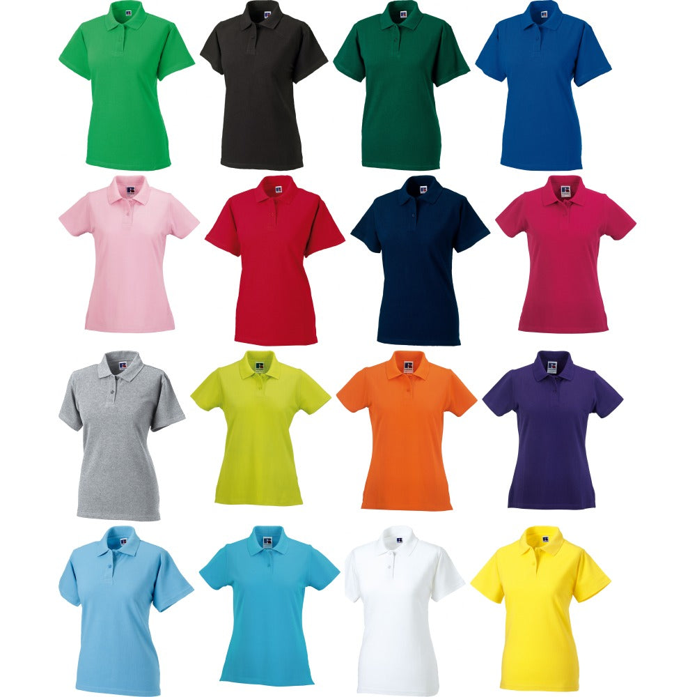 Ladies Women Classic Colour 100% Cotton Polo Neck Collar Shirt Top