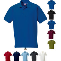Mens Russell Ultimate Classic 100% Cotton Polo Neck Collar Shirt Top (XS to 4XL)