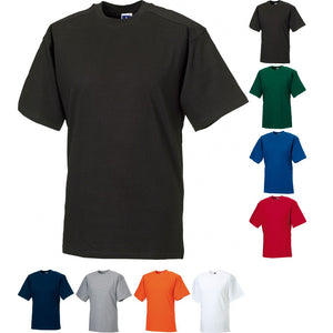 Mens Russell Workwear 100% Cotton T Shirt Top (XS to 4XL)
