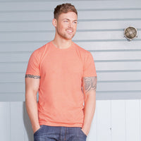 Mens Russell HD Bright Colour Long Length Short Sleeve T Shirt Top