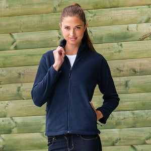 Ladies Women Russell Full Zip Colour Outdoor Fleece Top