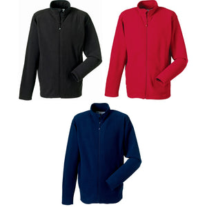 Mens Russell Full Zip Micro Fleece Top