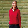Ladies Women Russell Full Zip Fitted Micro Fleece Top