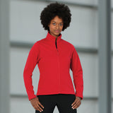 Ladies Women Russell Smart Softshell Fleece Jacket Top
