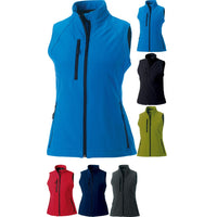 Ladies Women Russell Softshell Colour Sleevless Gilet Top