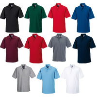 Mens Russell Hardwearing 60°C Wash Colour Polo Neck Collar Shirt Top (XS to 6XL)