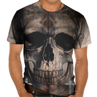 Ladies Tshirt Solo Skull Design