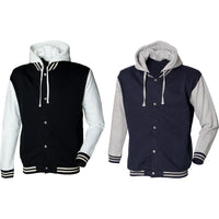 Unisex Adult Men Women SF Cotton Rich Baseball Jacket with Detachable Hood