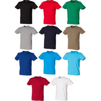 Mens SF Cotton Rich Colour Modern Cut Short Sleeve Stretch T Shirt Top