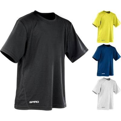 Kid Children Youth Junior Spiro Quick Dry Windproof Short Sleeve T Shirt Top