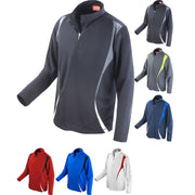 Mens Spiro Trial Lightweight Long Sleeve Performance Training T Shirt Top