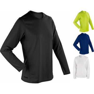 Ladies Women Spiro Quick Dry Lightweight Long Sleeve T Shirt Top