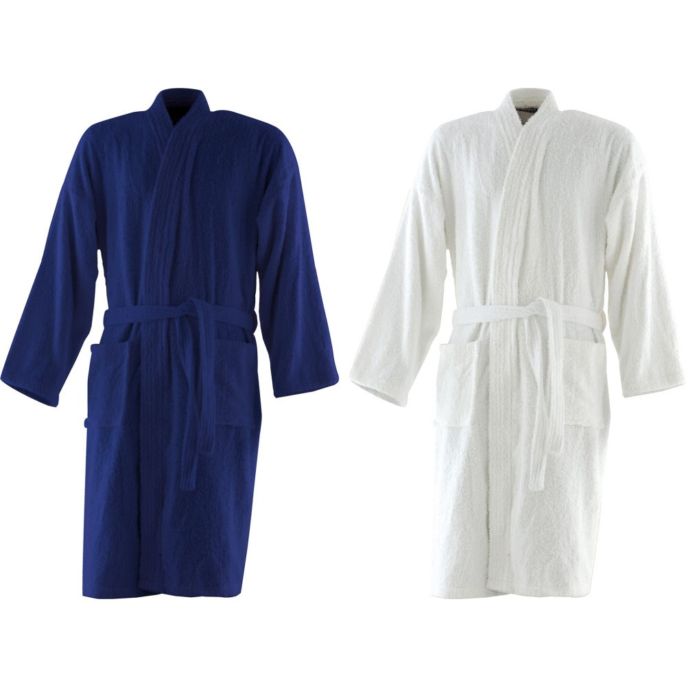 Adult Unisex Towel City 100% Cotton Terry Luxury Kimono Robe Dressing Gown