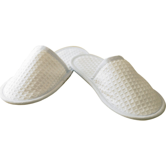 Unisex Adult Towel City Waffle Material Closed Toe Mule Terry Slippers