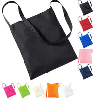 Westford Mill 100% Cotton Sling Tote Bag with Shoulder Strap
