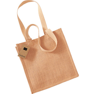 Westford Mill Jute Compact Cotton Tote Shopping Bag