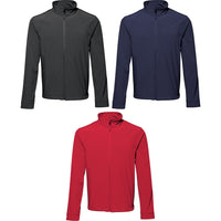 Mens 2786 3 Layer Softshell Jacket Top with Microfleece Lining