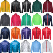 Mens 2786 Contrast Fold Away Shower Proof Lightweight Jacket Top